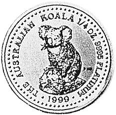 1999 Australia 25 Dollars reverse