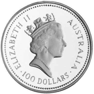 1986-1989 Australia 100 Dollars obverse
