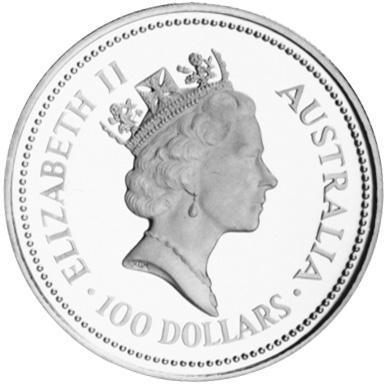 1988 Australia 100 Dollars obverse