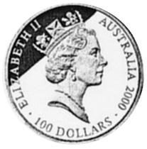 2000 (1998) Australia 100 Dollars obverse