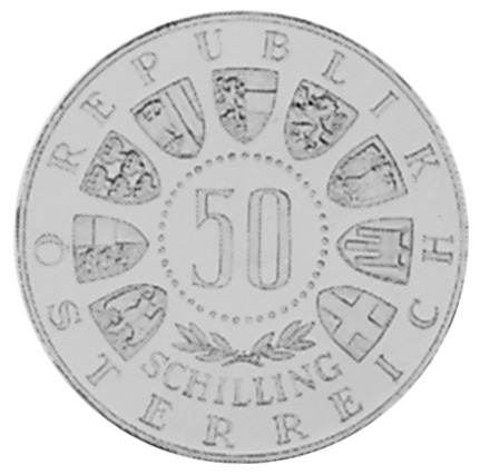 1964 Austria 50 Schilling obverse