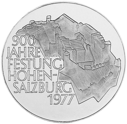 1977 Austria 100 Schilling reverse