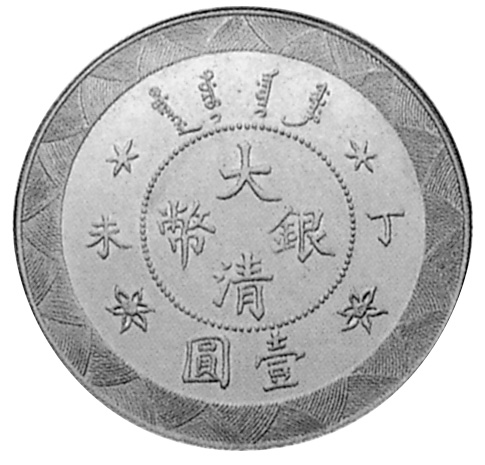 1907 China EMPIRE Dollar obverse