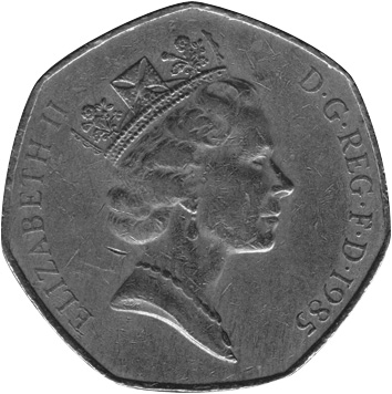 1985-1997 GREAT BRITAIN 50 Pence obverse