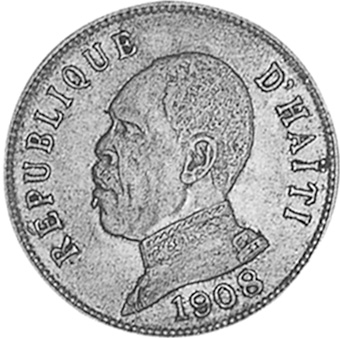 1907-1908 Haiti 50 Centimes obverse
