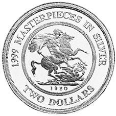 1999 Australia 2 Dollars reverse