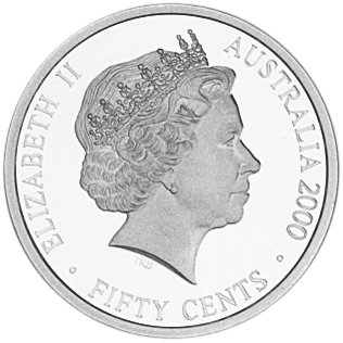 2000 Australia 50 Cents obverse