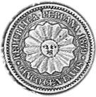 1879-1880 Peru SOUTH PERU 5 Centavos obverse