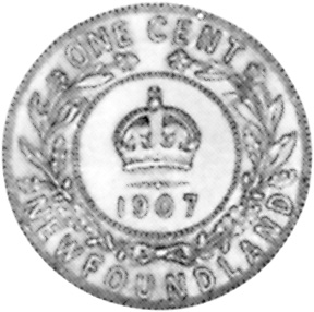 1904-1909 Newfoundland Large Cent reverse