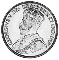 1913-1936 Newfoundland Large Cent obverse