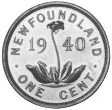 1938-1947 Newfoundland Small Cent reverse