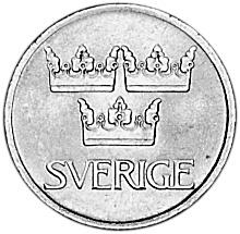 1972-1973 Sweden 5 Ore obverse