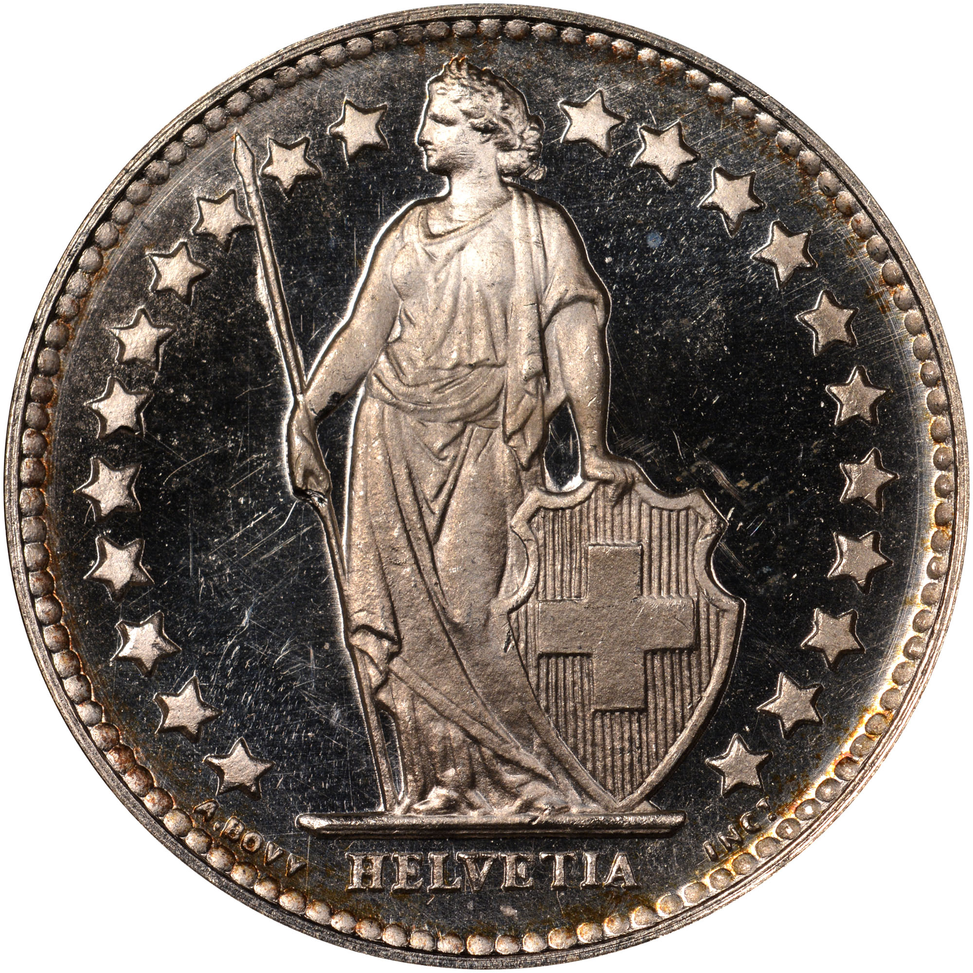 1875-1967 Switzerland 1/2 Franc obverse