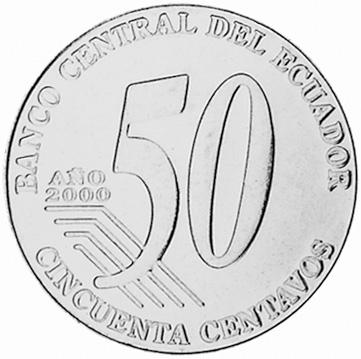 2000 Ecuador 50 Centavos, Cincuenta reverse