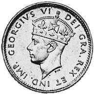 1944-1947 Newfoundland 5 Cents obverse