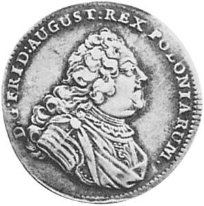 1734-1755 German States SAXONY-ALBERTINE 1/6 Thaler, 1/4 Gulden obverse