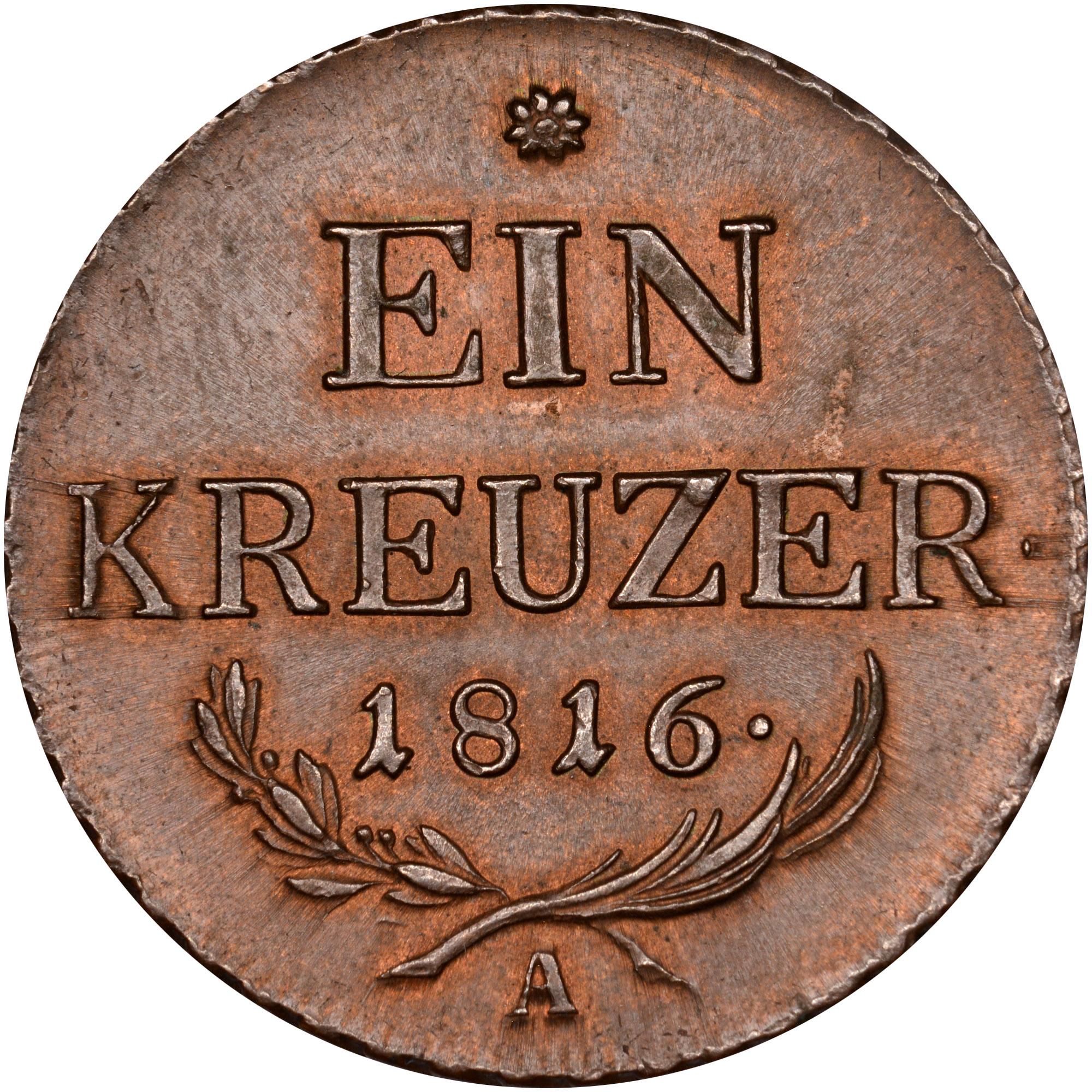 1816 Austria Kreuzer reverse