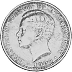 1909 Portugal 200 Reis obverse