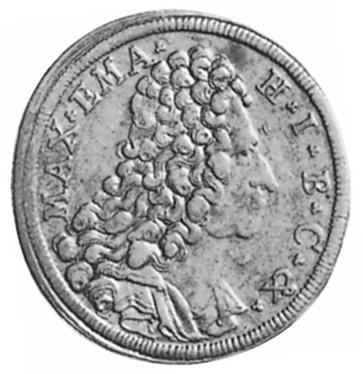 1715-1719 German States BAVARIA 30 Kreuzer, 1/2 Gulden obverse