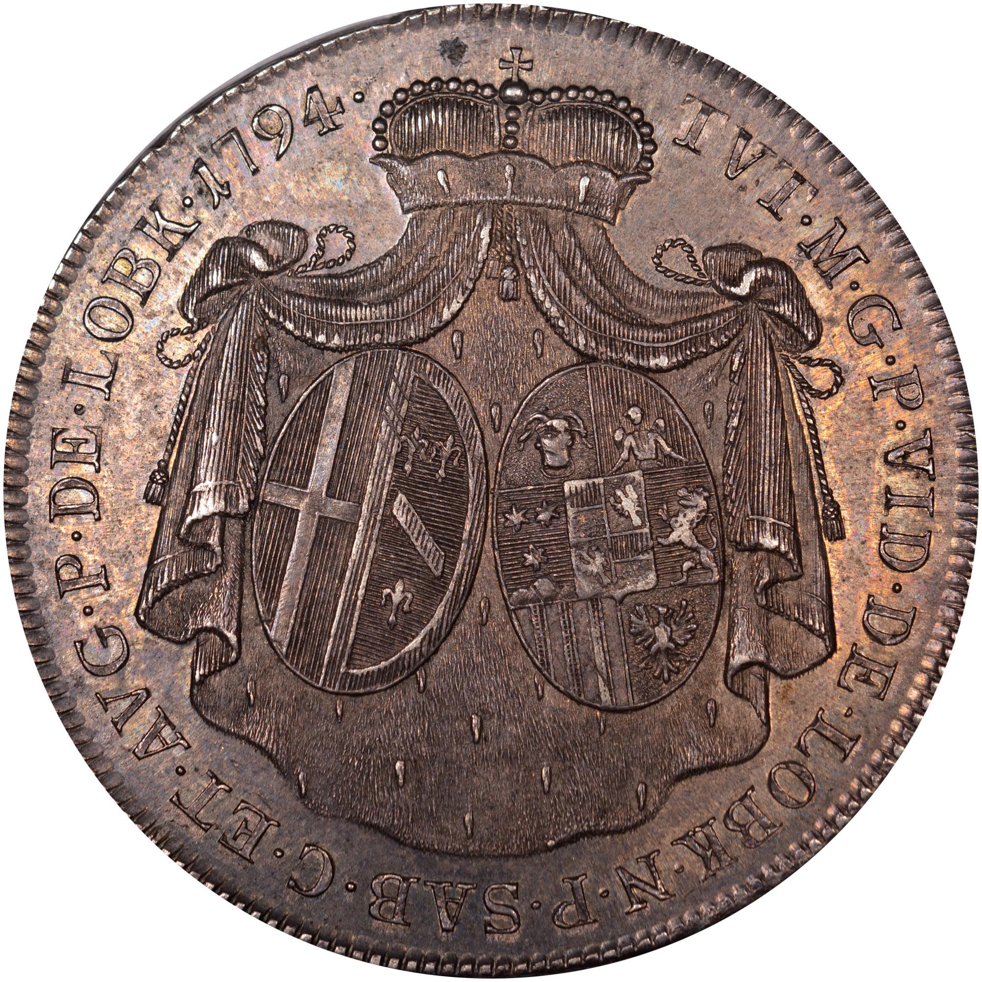 1794 Bohemia LOBKOWITZ-STERNSTEIN 20 Kreuzer reverse