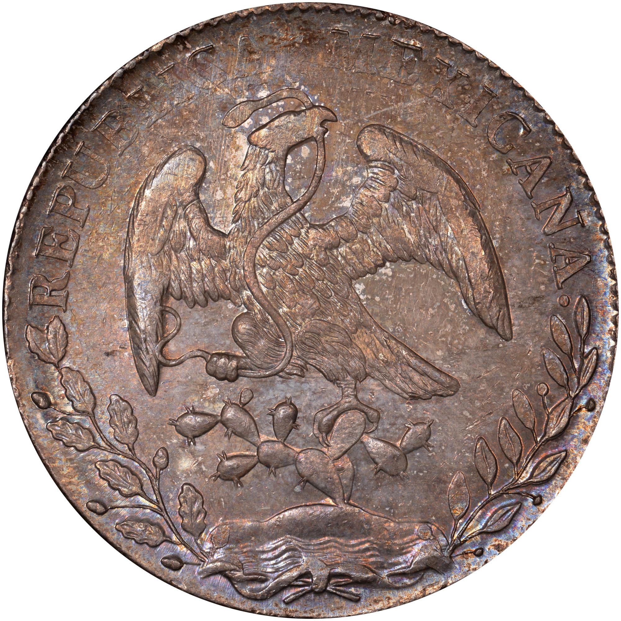 1824-1897 Mexico 8 Reales obverse