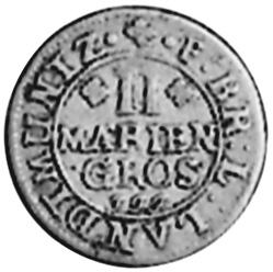 1687-1703 German States BRUNSWICK-LUNEBURG-CELLE 2 Mariengroschen reverse
