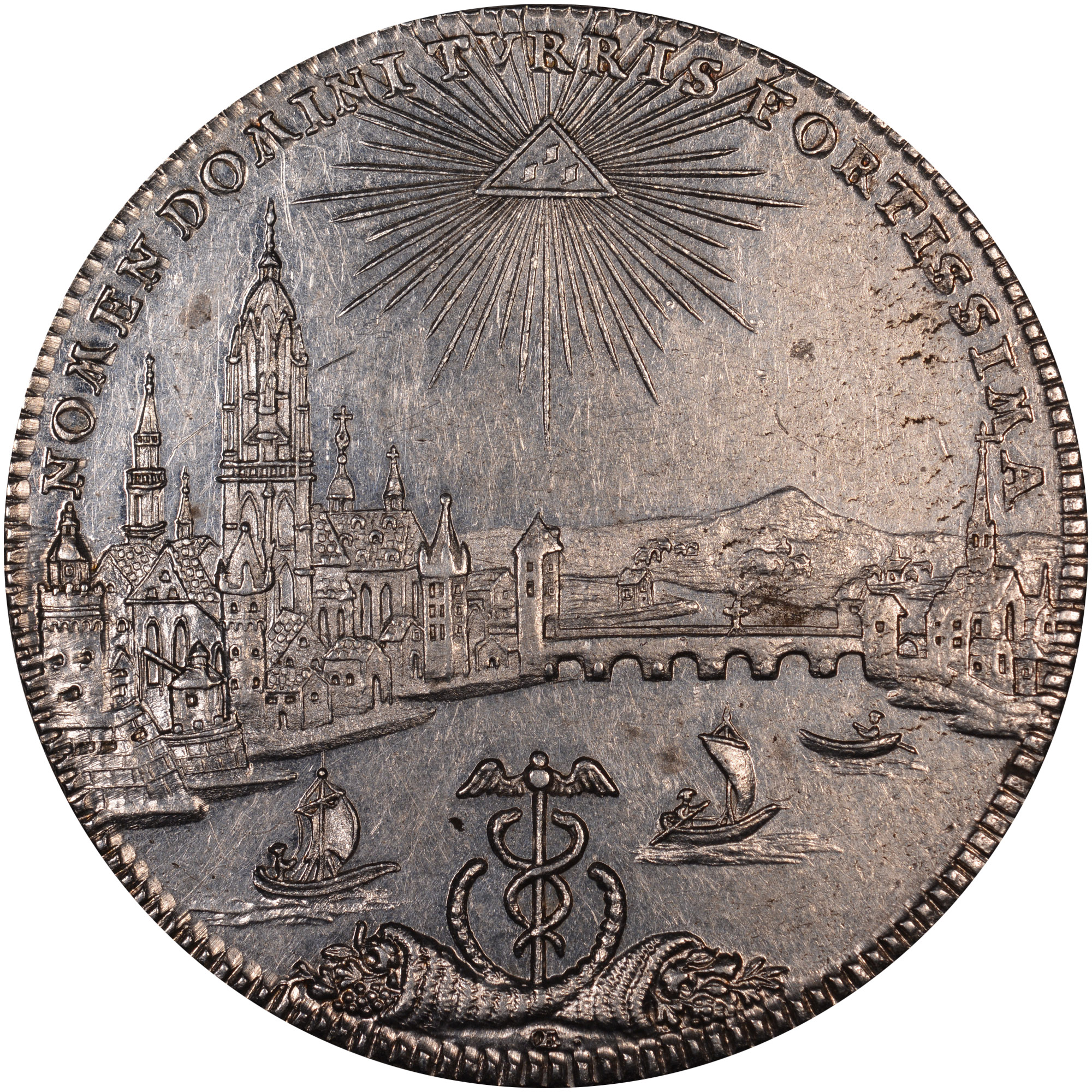 1772 German States FRANKFURT AM MAIN Thaler reverse
