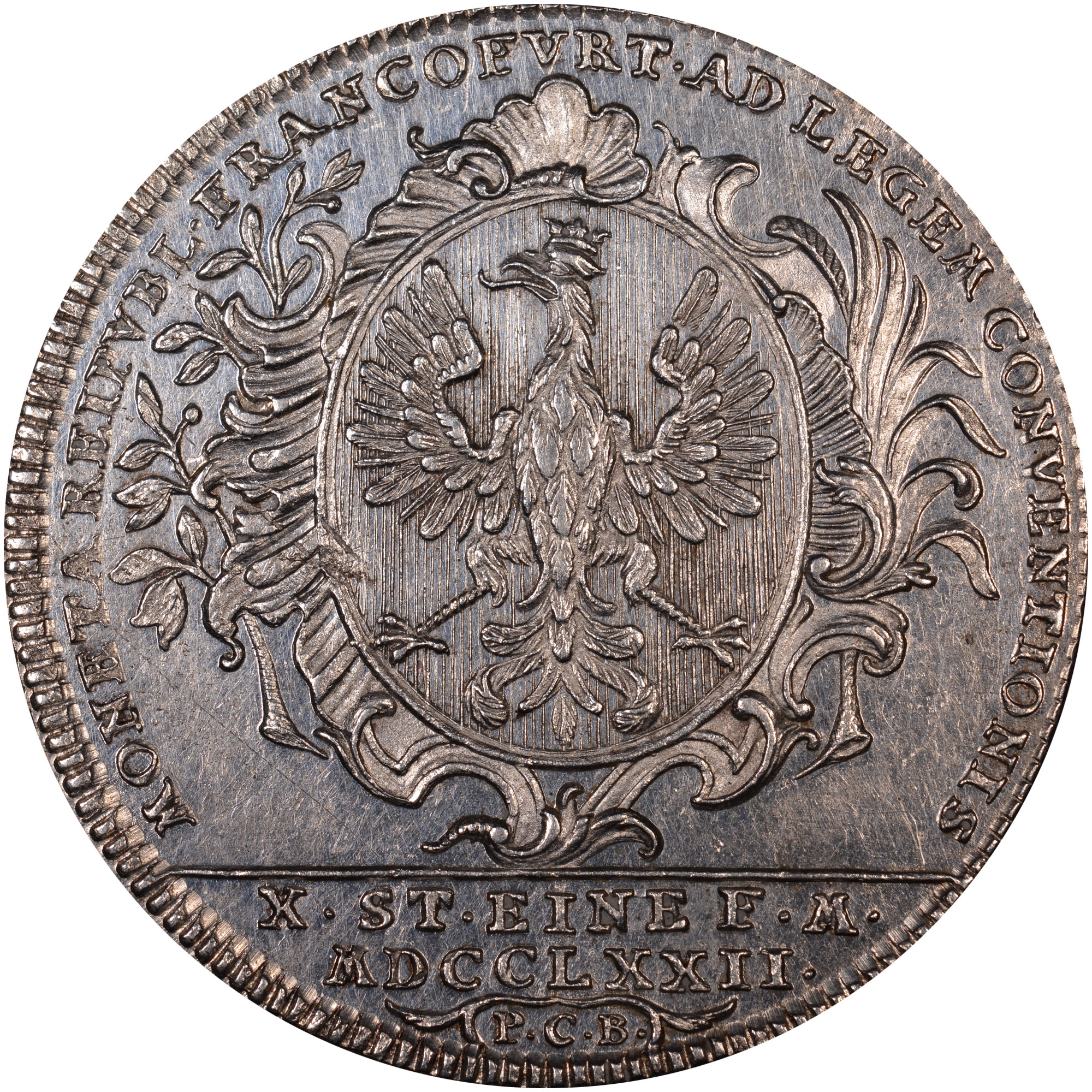 1772 German States FRANKFURT AM MAIN Thaler obverse