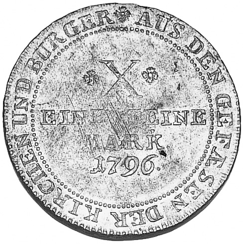 1796 German States FRANKFURT AM MAIN Thaler reverse