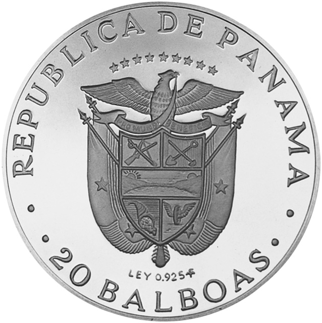 1972-1976 Panama 20 Balboas obverse
