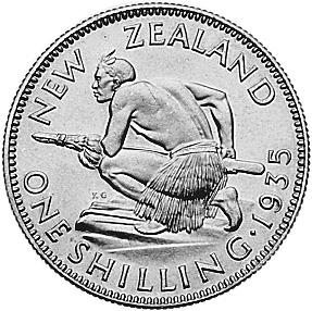 1933-1935 New Zealand Shilling reverse