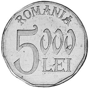 2001-2006 Romania 5000 Lei obverse