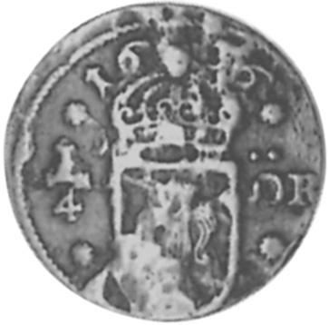 1634-1636 Sweden 1/4 Ore reverse