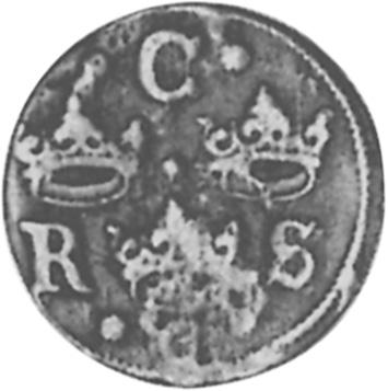 1634-1636 Sweden 1/4 Ore obverse