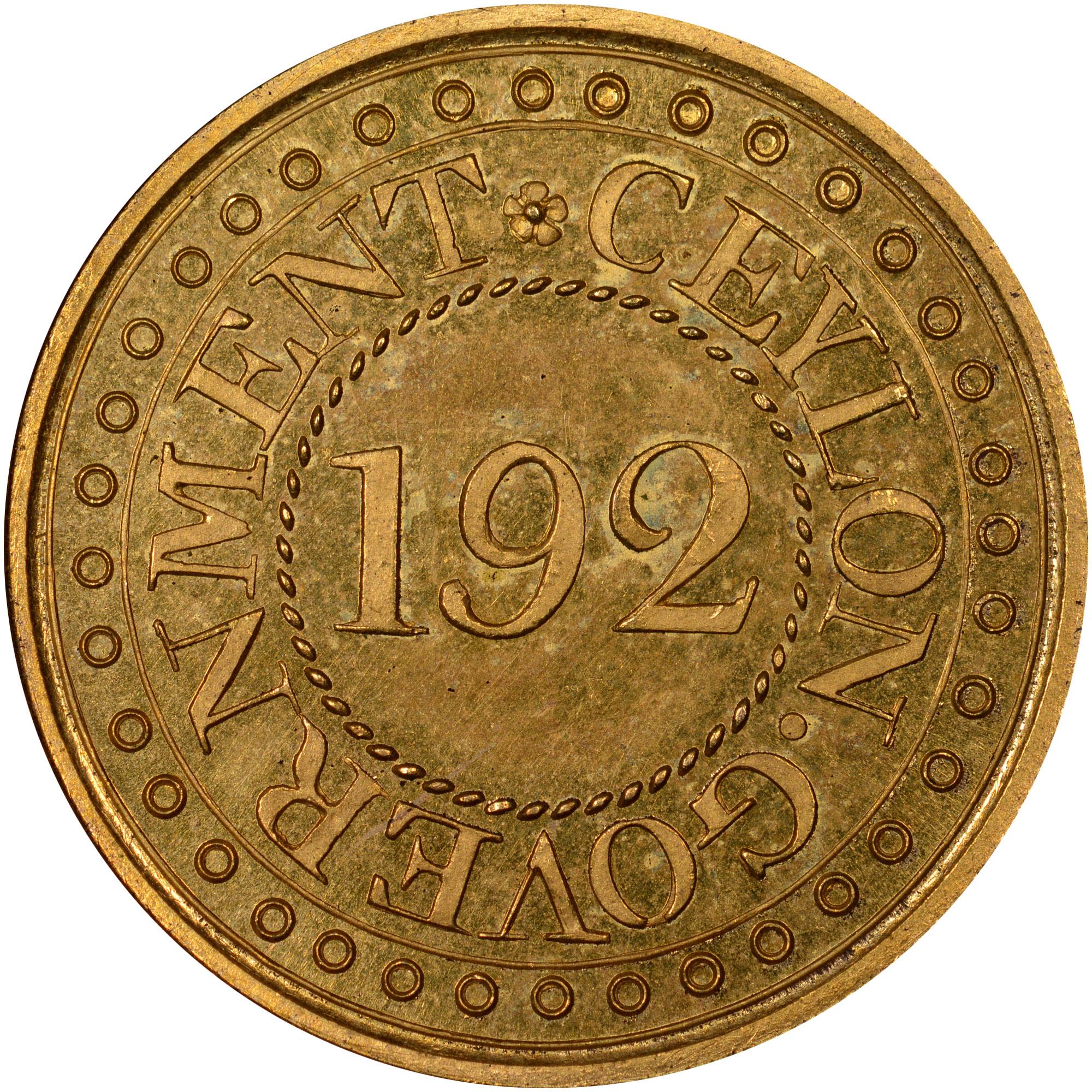 1802-1804 Ceylon 1/192 Rixdollar obverse