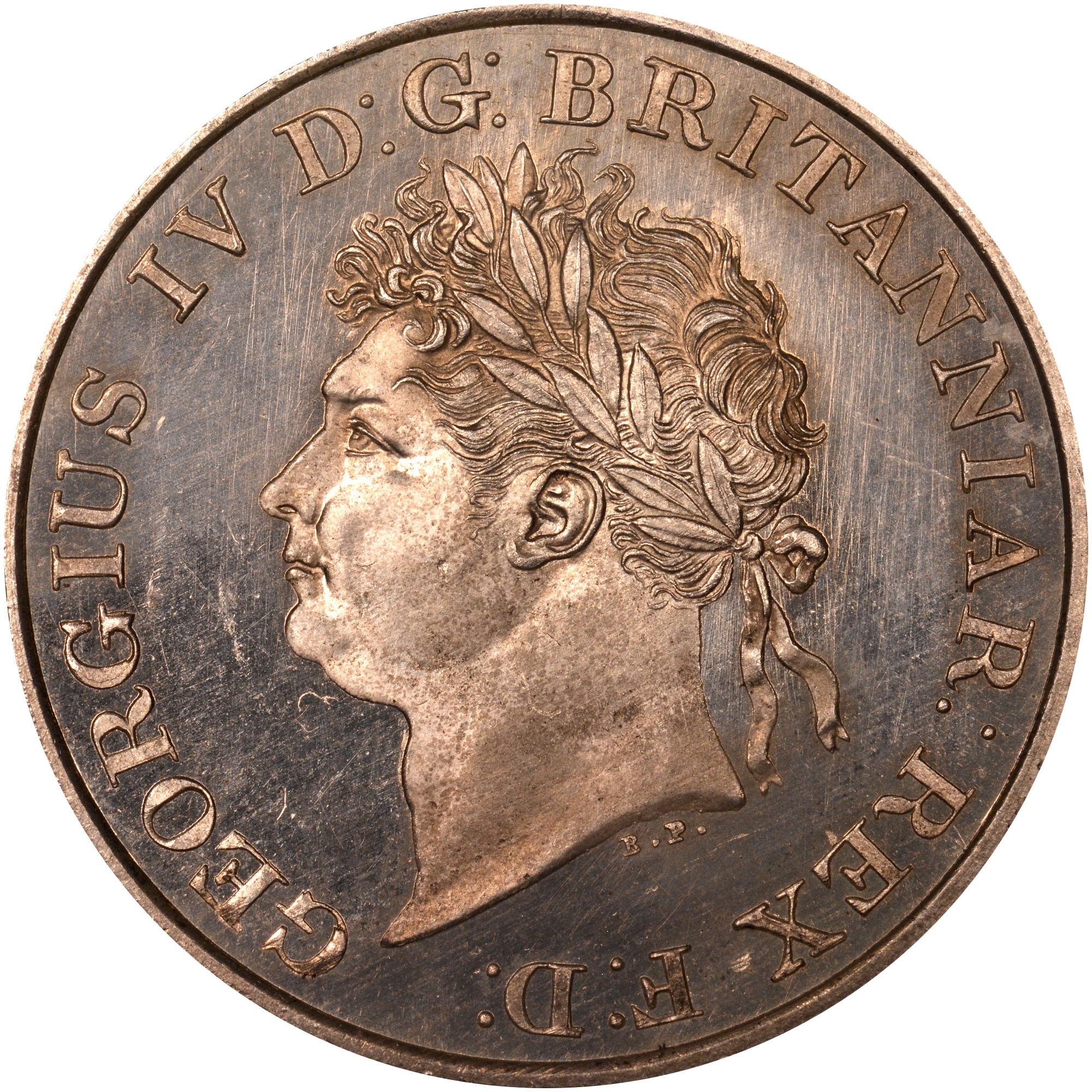 1821 Ceylon Rixdollar obverse