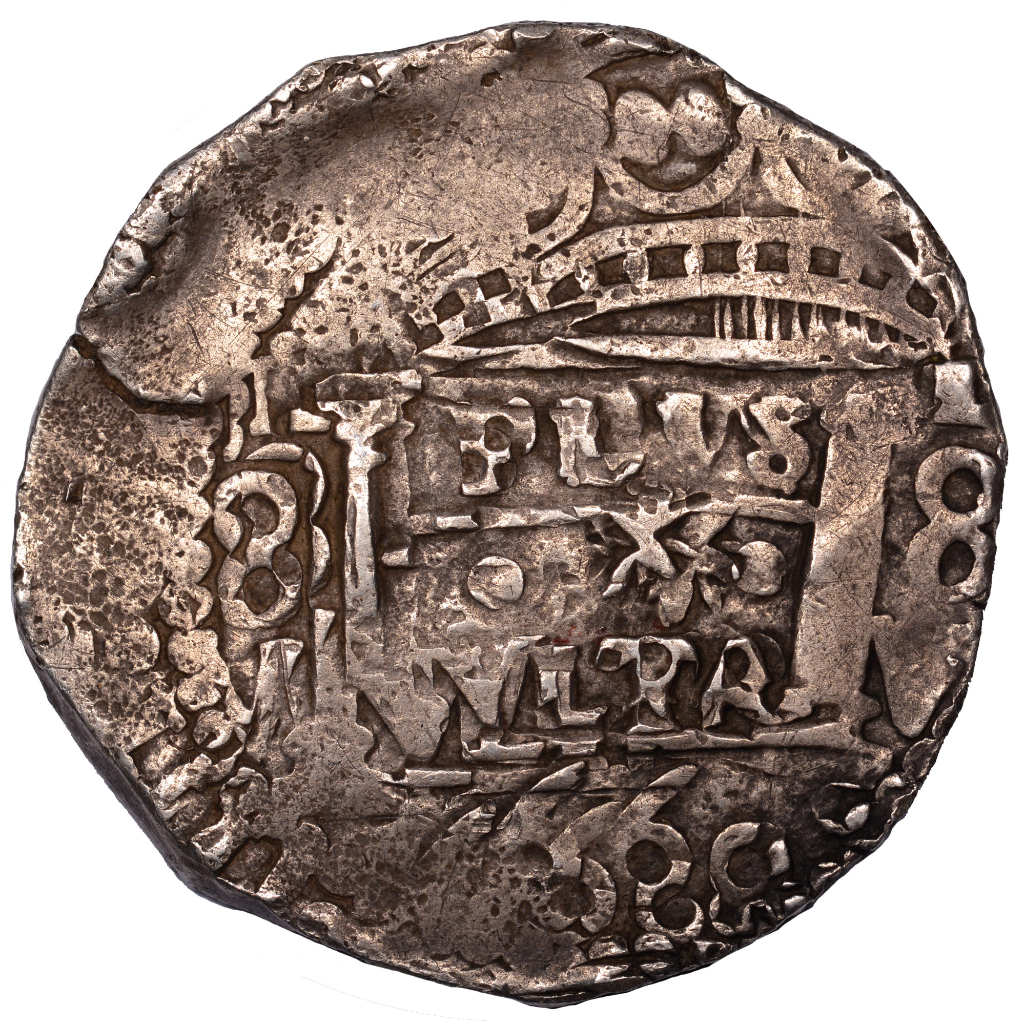(1652-67)-1667 Bolivia 8 Reales reverse