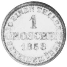 1858-1866 German States HANNOVER Groschen reverse