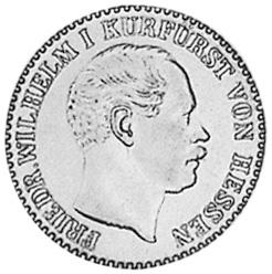 1852-1865 German States HESSE-CASSEL 2-1/2 Silber Groschen obverse