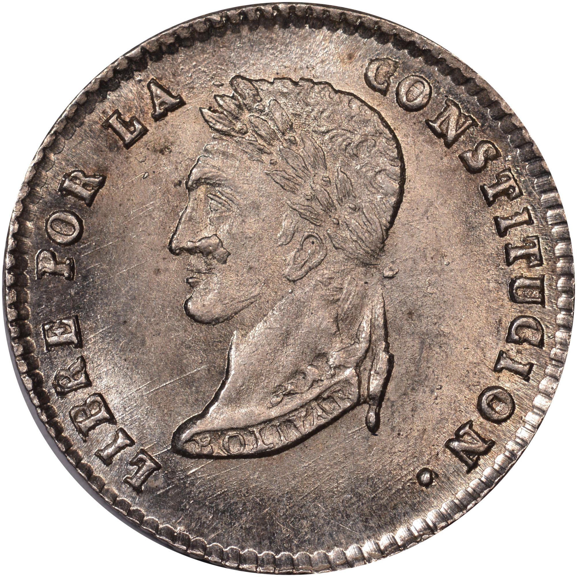 1853-1854 Bolivia Sol reverse