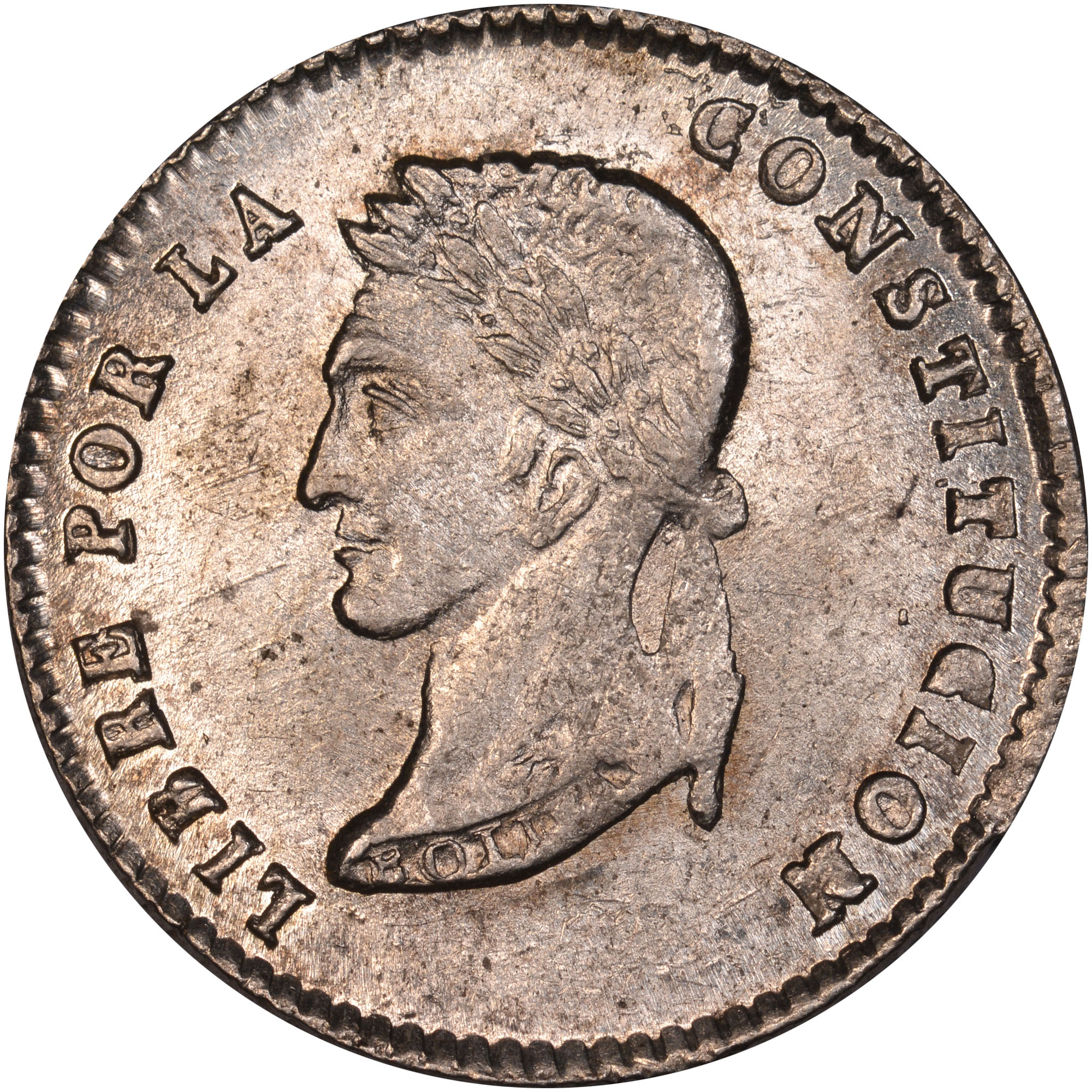 1855-1858/7 Bolivia Sol reverse