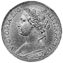 1874-1895 GREAT BRITAIN Farthing obverse
