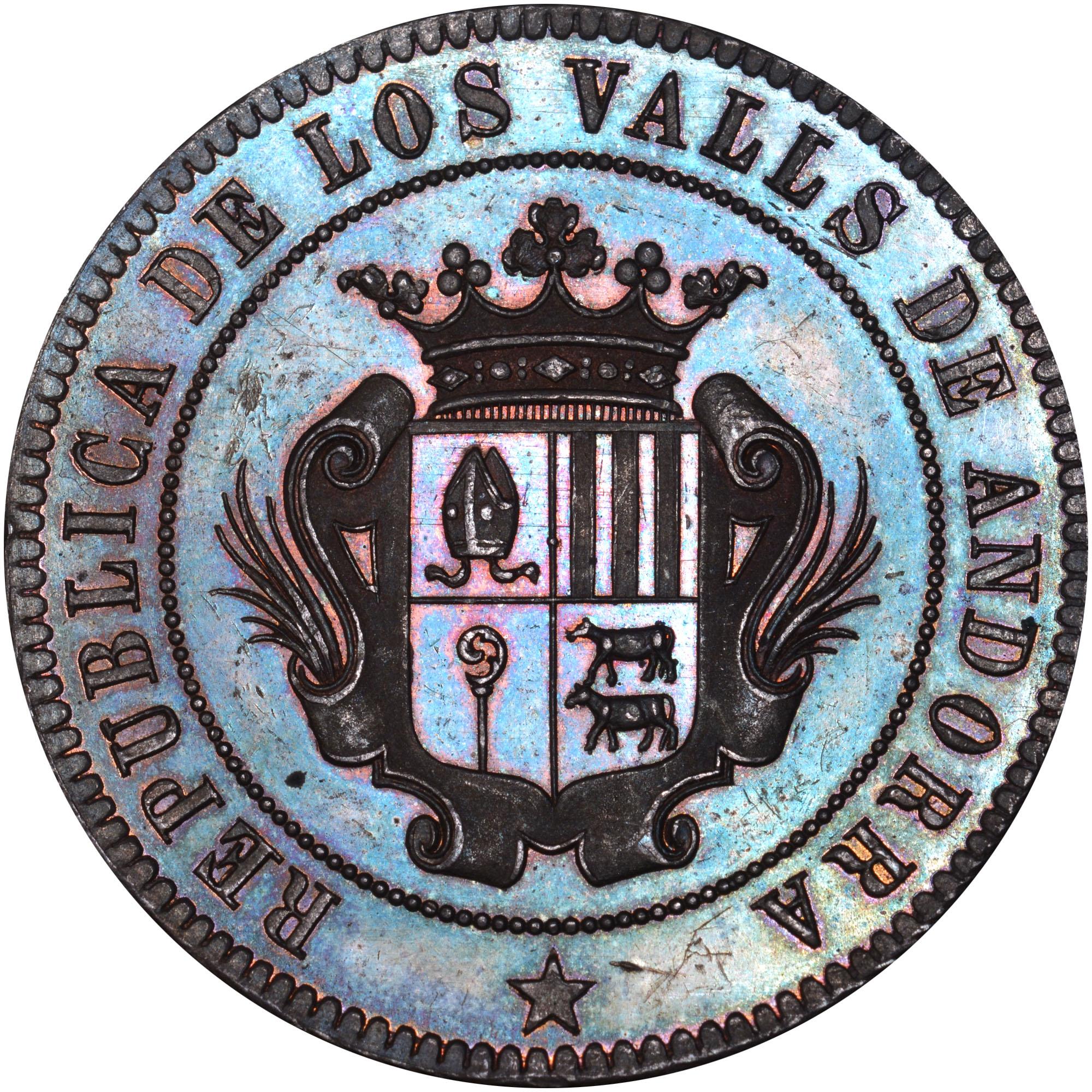 1873 Andorra 10 Centimos obverse