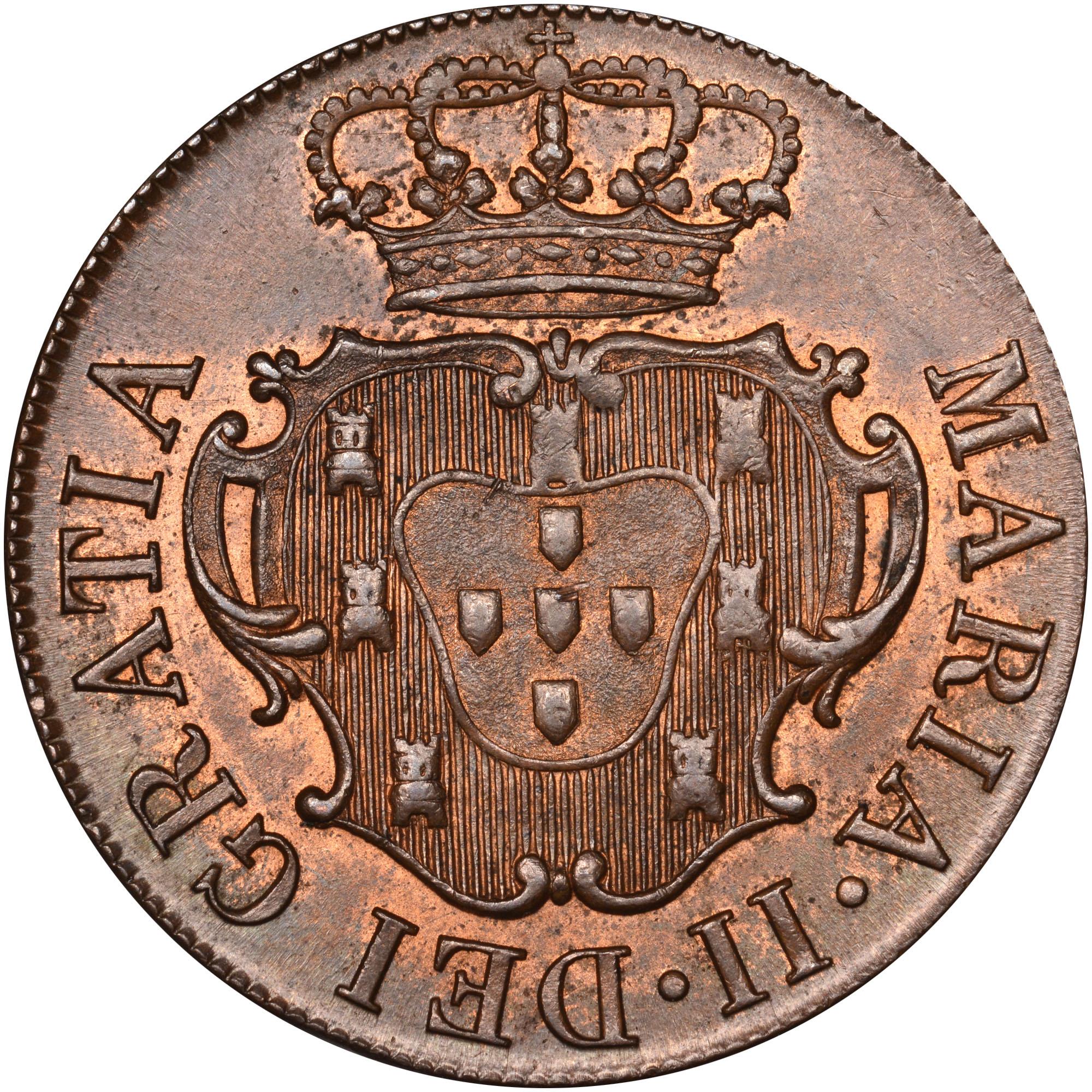 1830 Azores TERCEIRA ISLAND 10 Reis obverse