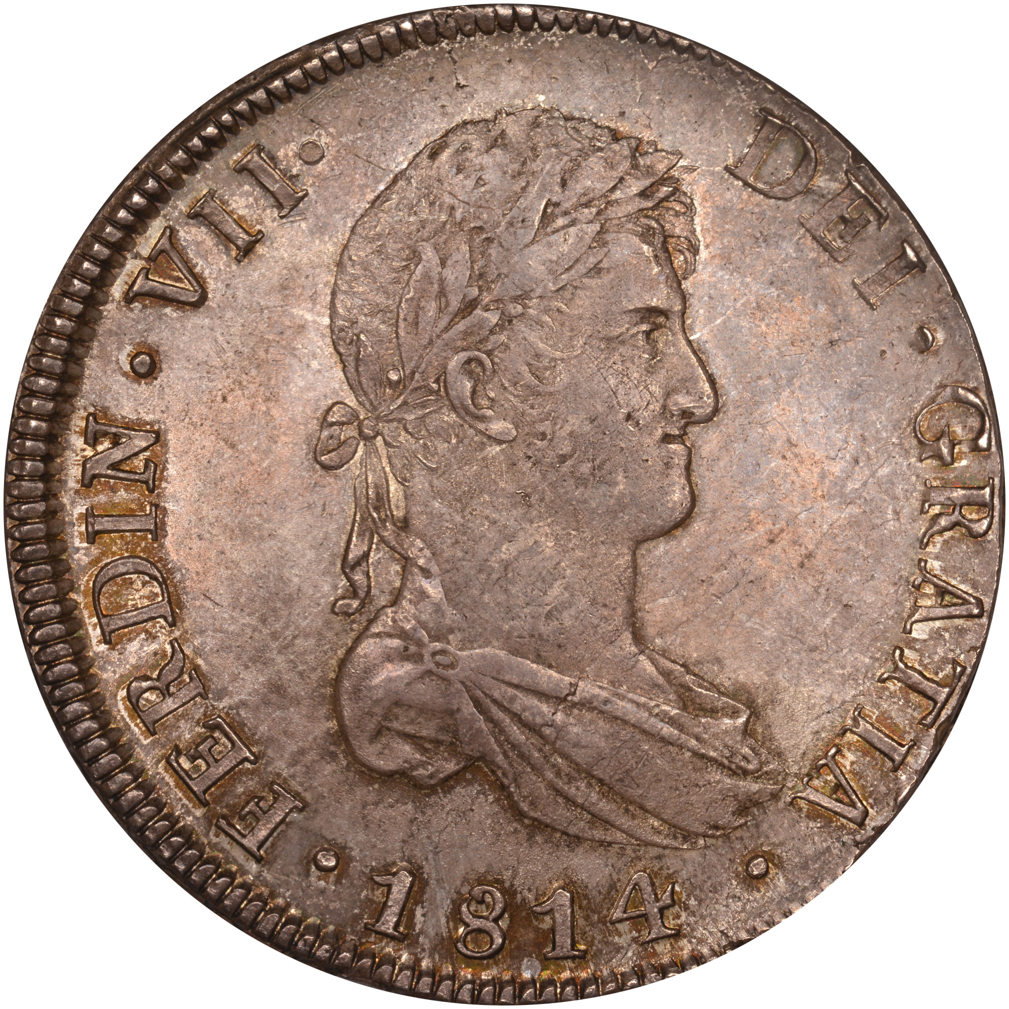 1812-1817 Chile 8 Reales obverse