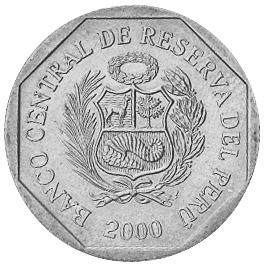 2000-2001 Peru 50 Centimos obverse