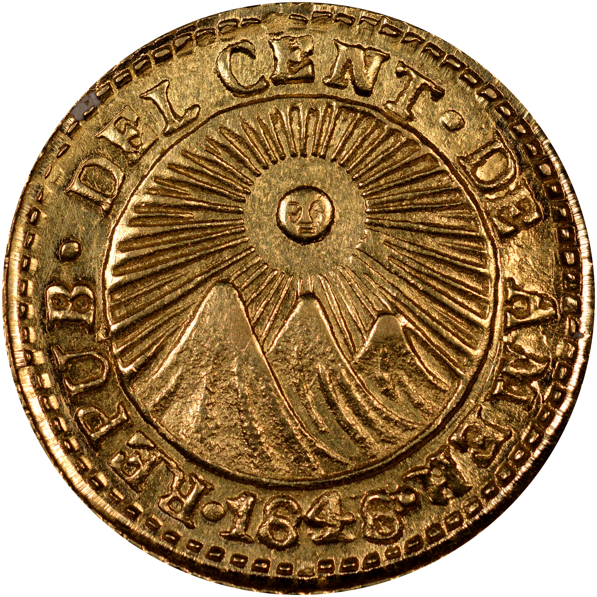 1828-1849 Central American Republic 1/2 Escudo obverse
