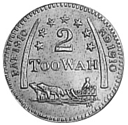 1862 (1910)-1862(1910) United States ALASKA 2 Too Wah reverse