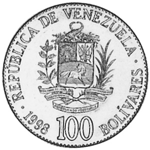 1998 Venezuela 100 Bolivares obverse