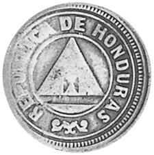 1910-1913 Honduras 2 Centavos obverse